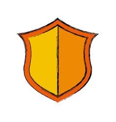 Shield security emblem vector