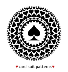 Spade card suit pattern vector image