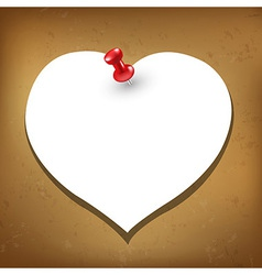 Heart blank gift tag vector