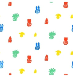 Tropical pattern with fruits and leafs vector image