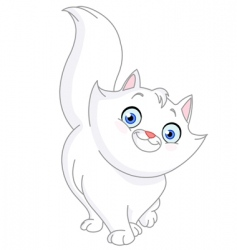 White cat vector