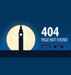 404 error page not found ui ux template for vector image