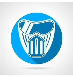 Blue flat icon for paintball mask vector