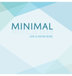 Minimal blue triangle diamond like style banner vector