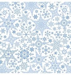 Snowflakes seamless patternwinter crystal stars vector