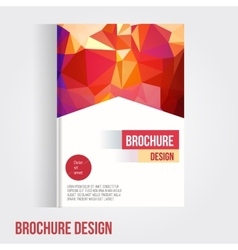 Set of brochure cover design template with vector