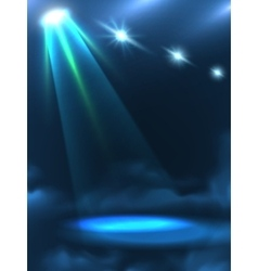 Blue green light beam background banner vector
