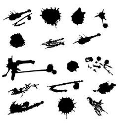 Paint splat setpaint splashes set for design use vector