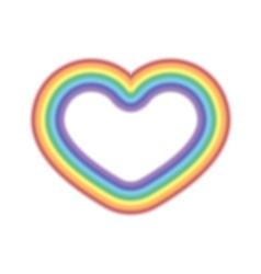 Rainbow icon heart realistic vector image