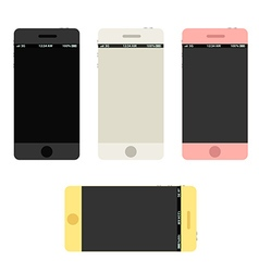 Modern phones collection with beautiful abstract vector image
