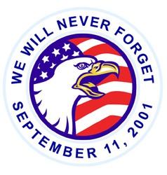 American bald eagle 911 vector