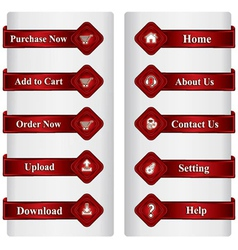 Buttons for online shopping web design vector image