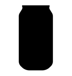Can the black color icon vector