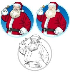 Christmas Character Santa Claus cartoons set vector image vector image