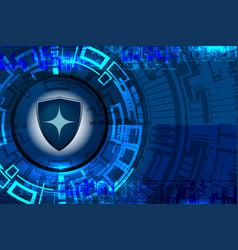 cyber shield guard vector image vector image