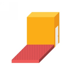 Empty stage isometric square podium storeroom vector