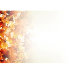 Falling autumn leaves on light eps 10 vector