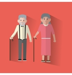 Grandparents design vector