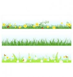 grass web banners vector image vector image