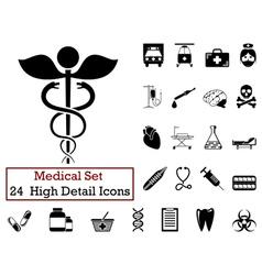 icon set medical vector image vector image