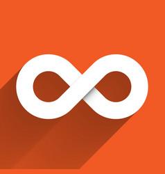 Infinity symbol icon concept of infinite vector