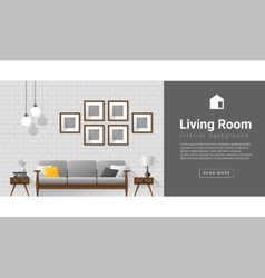Interior design modern living room background 1 vector
