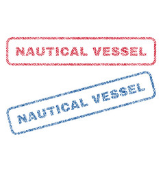 Nautical vessel textile stamps vector