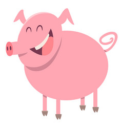 Pig farm animal character vector
