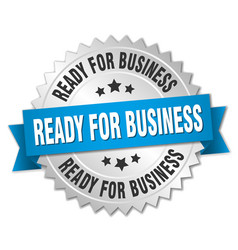 Ready for business vector