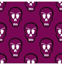 Seamless pattern halloween skulls vector