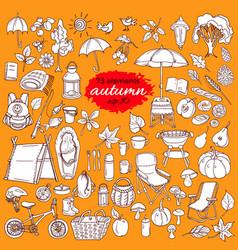 set autumn color vector image vector image