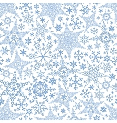 Snowflakes seamless patternWinter crystal stars vector image
