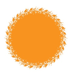 Sun and halftone design element vector