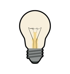 Light bulb illumination energy power icon vector