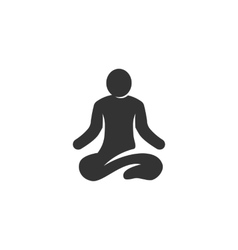 Yoga icon isolated on a white background vector
