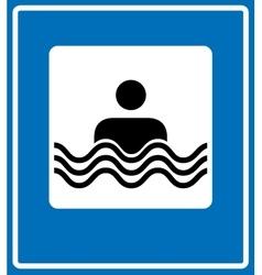 Swim icon flat simple pictogram on light vector