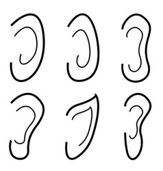 ears icon set vector image