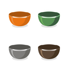 The bowls vector