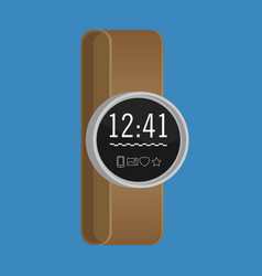 Smartwatch wearable technology flat icon eps10 vector