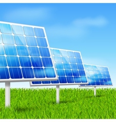 Eco energy solar panels vector