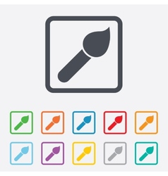 Paint brush sign icon artist symbol vector