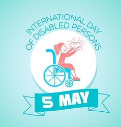 5 may international day of disabled persons vector