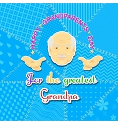 Grandfather and grandmother day vector
