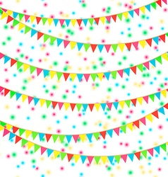Flags and confetti vector