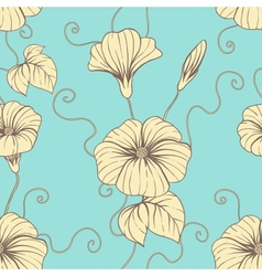 Seamless pattern with hand draw flowers floral vector
