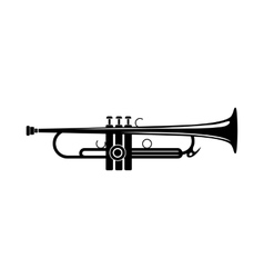 Trumpet icon black simple style vector image