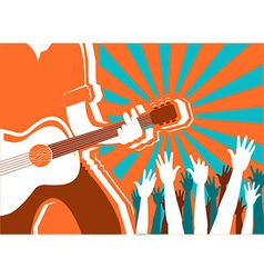 Rock musician concert background poster vector