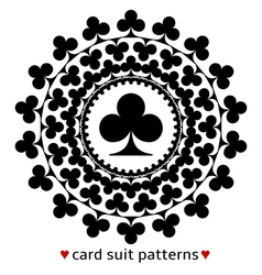 Club card suit pattern vector