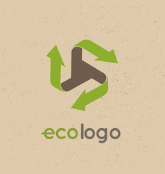 Concept logo recycle products the use of vector