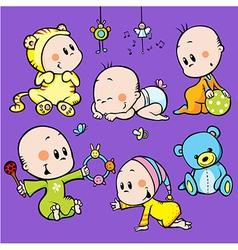 Cute babies vector